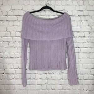 Lilac Knit Sweater The Limited Medium